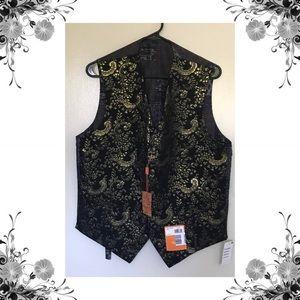 {Tallia} Men's Metallic Paisley Vest